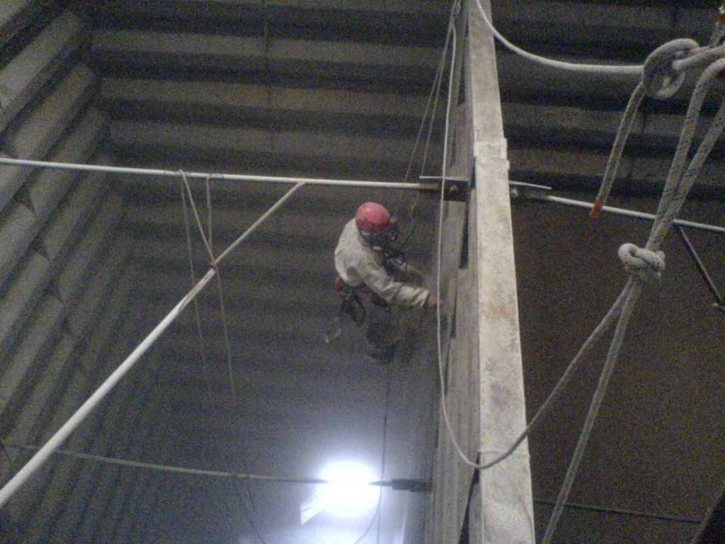 Nettoyage de silos
