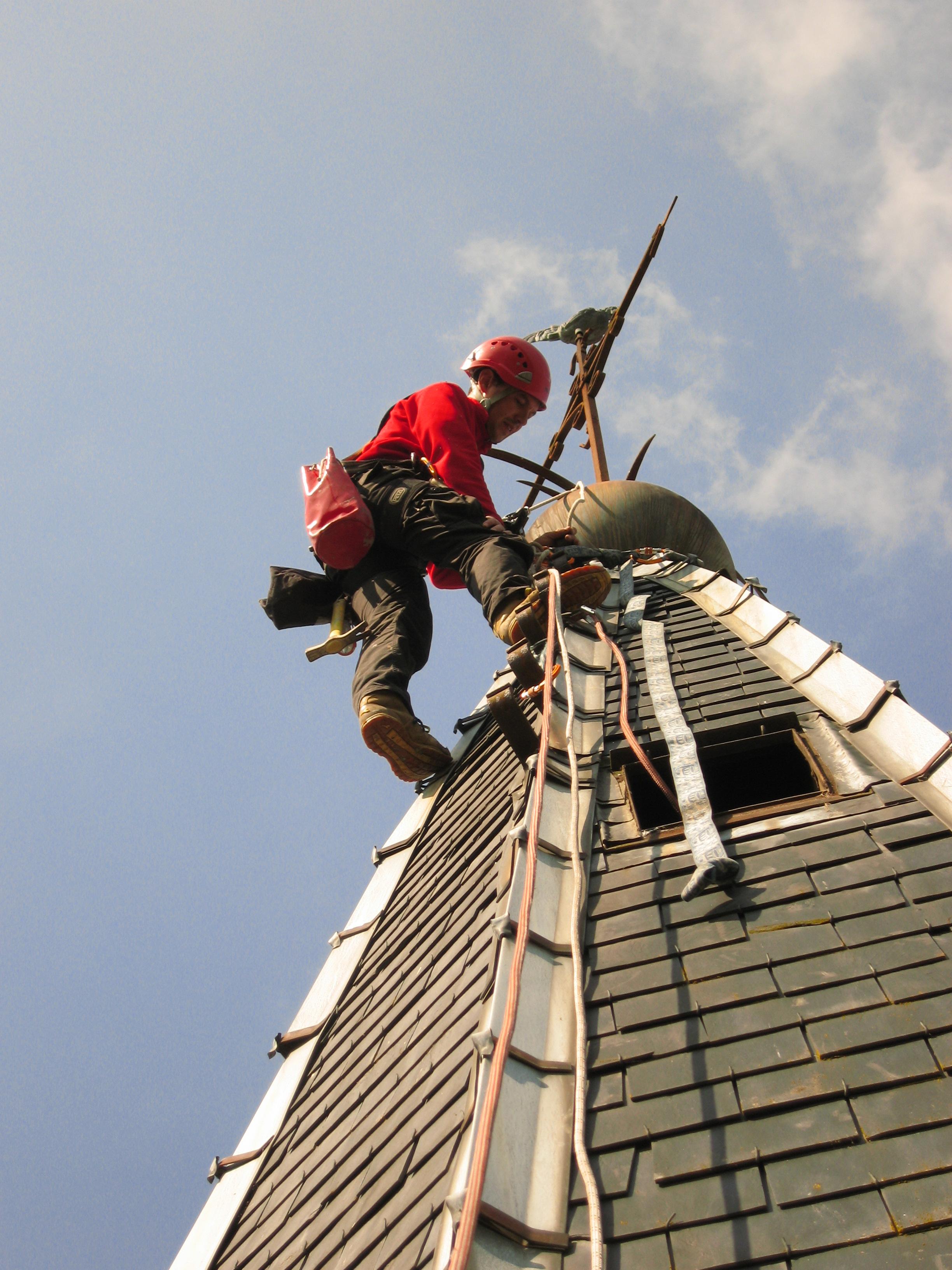travaux de maçonnerie accès difficile en hauteur